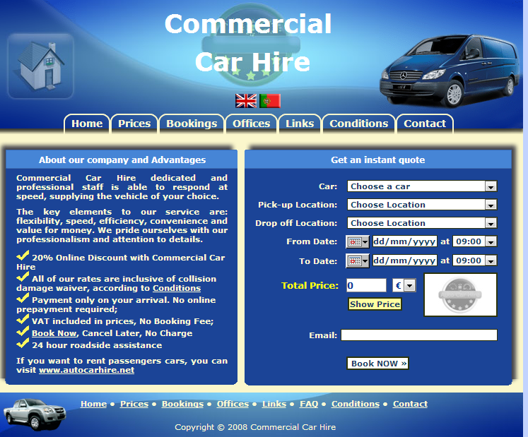 Commercial Car Hire